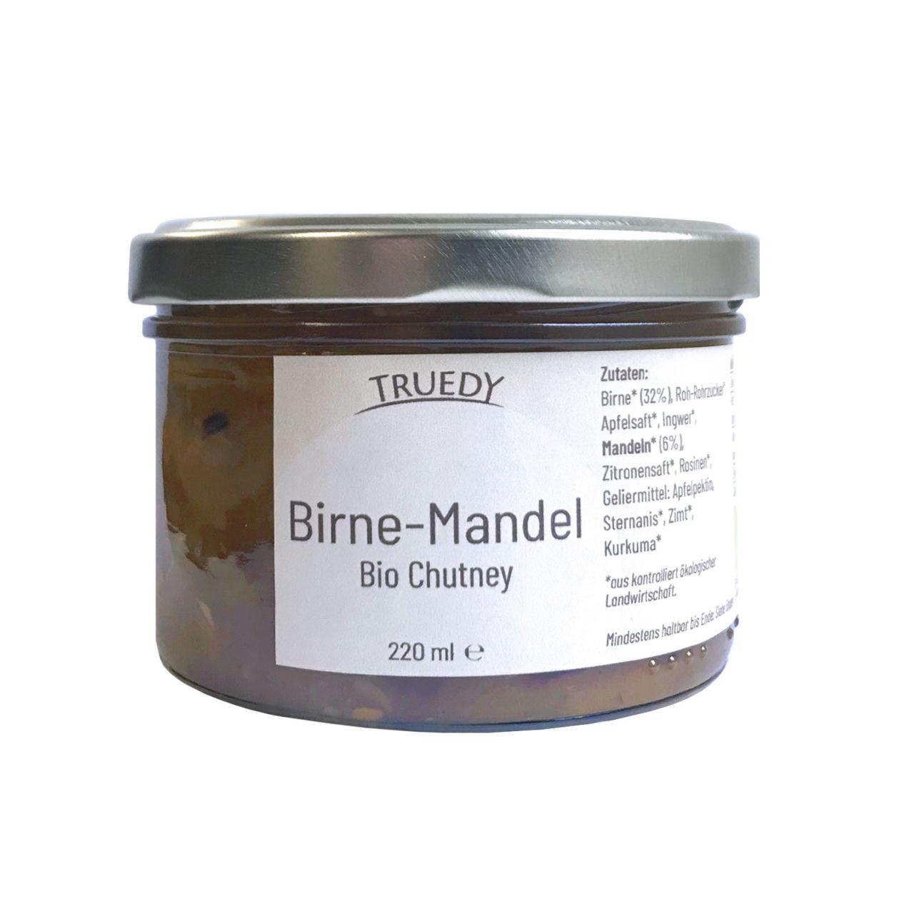 Bio Chutney im Glas Birne Mandel