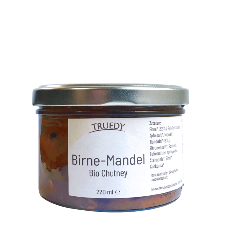 Truedy Bio Chutney Birne Mandel