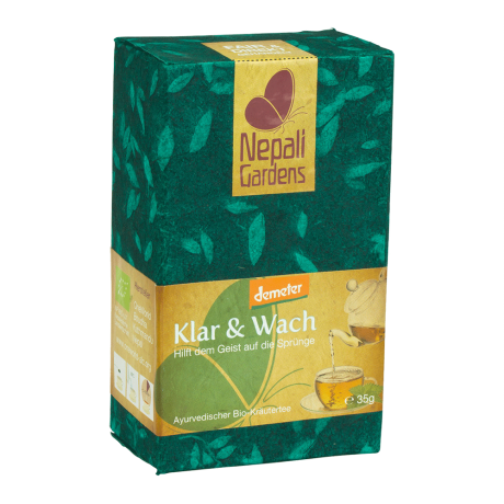 "Nepali Gardens Bio Kräutertee ""Klar & Wach"" Demeter"